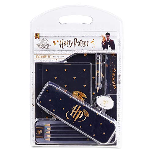 Harry Potter Cancelleria Scuola, Set Back To School Con Matite Colorate, Gomma Da Cancellare, Penna, Righello, Agenda A5, Diario A4, Temperamatite, Materiale Scolastico Kawaii, Idea Regali Bambini