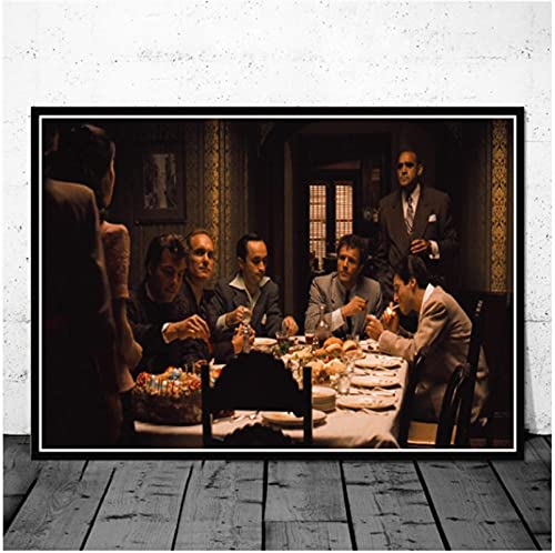 El Padrino Scarface Sopranos Carteles E Impresiones Retro Cuadros En Lienzo para Pared Decoración De Dormitorio Universitario En Casa Vintage 50X70 Cm (19.68X27.55 In) Q-479
