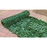 【LR.store】 グリーンフェンス 緑のカーテン 目隠し リーフフェンス フェイクグリーン リーフラティス ガーデンフェンス ハードネットタイプ 日よけ サンシェード (1m*3m, 4)