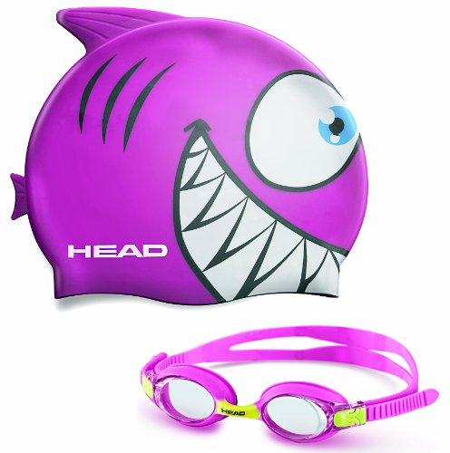 Kid's Swim Cap and Goggle Set - Pink