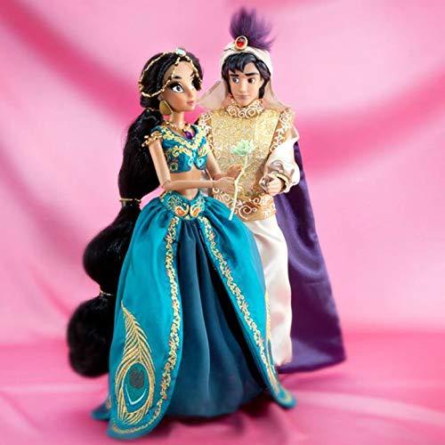 DS Disney Store - Muñeca Jasmine con Aladdin Fairytale de 30 cm, edición limitada de princesas 1/6000