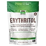 NOW Natural Foods, Erythritol, Great-Tasting Sugar Replacement, Zero Calories, Low Glycemic Impact, Kosher, 2.5-Pound (Packaging May Vary)