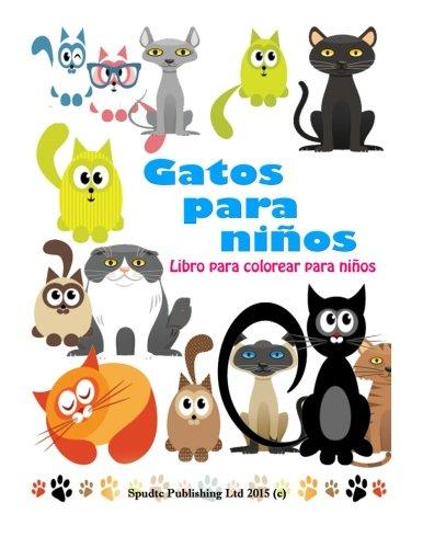 Gatos para niños: Libro para colorear para niños