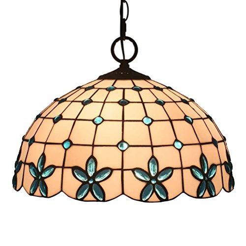 FABAKIRA Tiffany Colgante de Luz Vendimia Diseño Sala Comedor Veranda Mediterráneo Corredor Balcón Archivos Adjuntos Lámpara Colgante Redondo Pastoral Rústico Vitral Decoración Iluminación de Techo