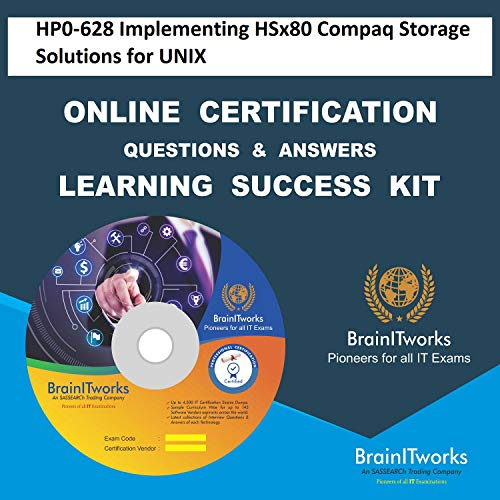 HP0-628 Implementing HSx80 Compaq Storage Solutions for UNIX Online Certification Video Learning Made Easy