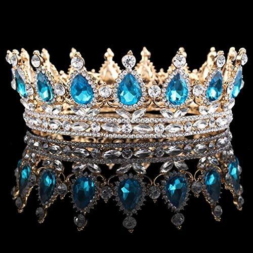 Tiara de novia Queen King para mujer, tocado, graduación, novia, boda, tiaras...