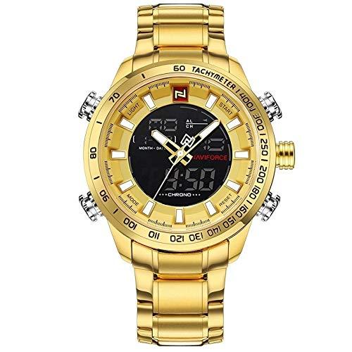 Relógio Masculino Naviforce Militar Esportivo Luxo Original Dourado