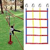 クライミングネット クライミングカーゴネット 4つの三角形のフック付き ロープ はしご 縄ばしご 子供登るゲーム ホーム子供安全ネット装飾 室内 外遊び 登山 登り用練習 遊具 遊び場日常のスポーツ