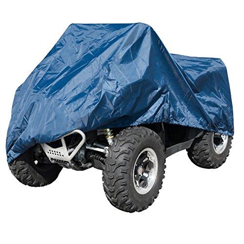 Telo Copri Moto ATV Quad Naked Impermeabile PVC Universale Garage Blu XL