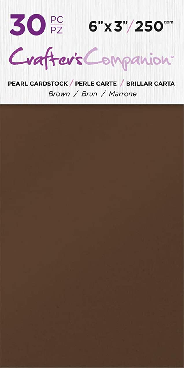 Crafter's Companion CC-PAD-PRL-BRO 6x3 Luxury Pack (30 Sheets) Cardstock Brown