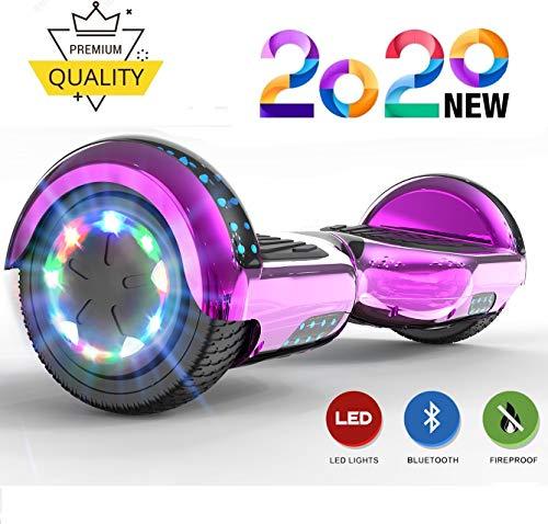 NEOMOTION Hoverboards 6,5 Zoll für Kinder Hover Scooter mit Bluetooth LED Flash Elektroroller mit blinkenden Rädern Spielzeug und Geschenk