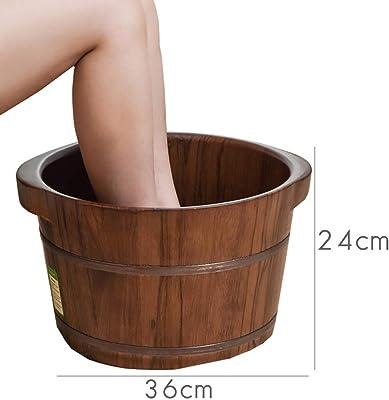 足湯木製バケツクルミ浴槽足湯洗面台厚さヘルシーナチュラル,A+Height24cm