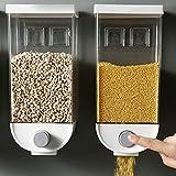 Baffect Dispensador de cereales Organizador doble de alimentos secos,recipiente...