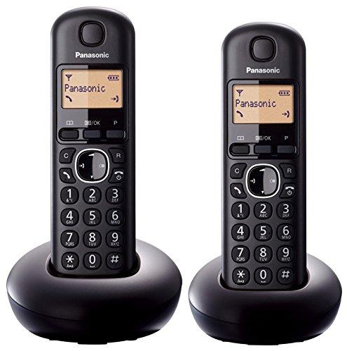Panasonic KX-TGB 212 EB ECO Home Cordless Phone - Twin, Black