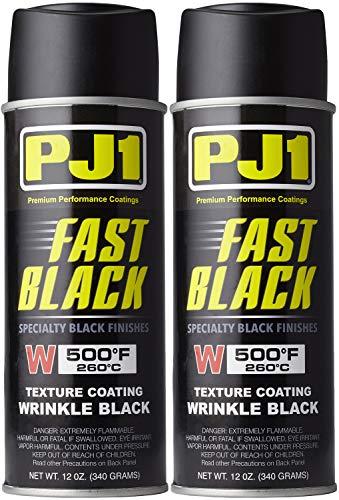 PJ1 16-WKL-2PK Wrinkle Black Spray Paint, 22 oz, 2 Pack