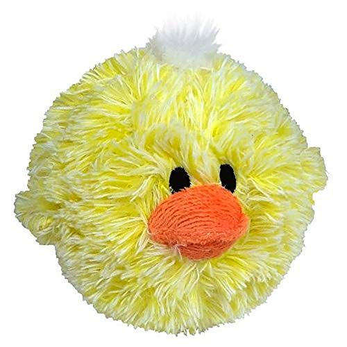 Pet Lou 4 Inch EZ Squeaky Chick, Beige, Small