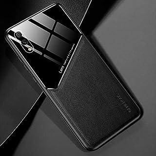 LENASH För Huawei njut av 9 all-inclusive läder + organiskt glasskydd med metalljärn Fallskydd (Color : Black)
