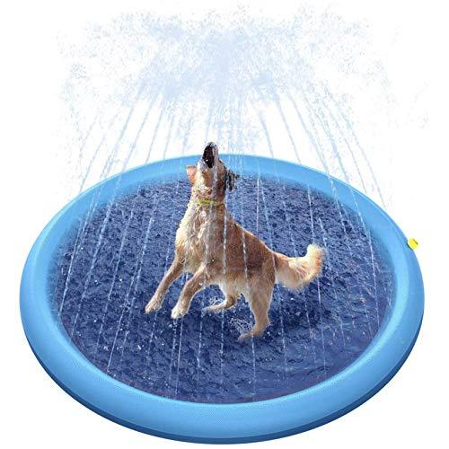 Juguetes Inflables con Almohadilla para Salpicaduras De 68 '', Almohadilla De Aspersión para Perros Y Niños, Piscina para Niños Gruesa, Bañera Duradera para Mascotas