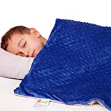 """9 LAYERS KIDS WEIGHTED BLANKET AND REMOVABLE COVER – The Hazli kids Weighted Blanket 7 pounds are made of cotton beautifully enclosed in a soft removable minky cover. It is the perfect weighted blanket for kids measuring 41"""" x 60"""" 2 in 1 COMFORT SET ..."""