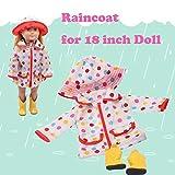 18-Zoll-Regenkleidung Kleidung + Schuhe (ohne Puppe, Malloom Hut Regenmantel Kleidung Anzug für 18...