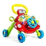 YIJIAHUI Primeros Pasos Baby Walker Multifunción bebé Walker Cesta Aviones Juguete Walker (Color : Multi-Colored, Size : 46x45x33cm)
