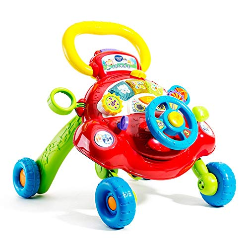Cheapest Prices! Limaomao Baby Walker with Wheel Baby Multi-Function Walker Cart Aircraft Toy Walker...