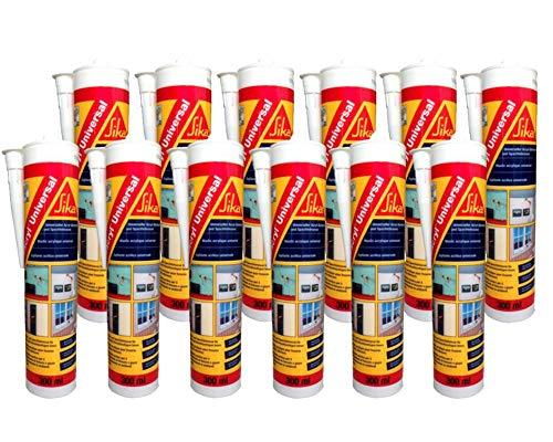 12 Stück Sikacryl Universal 300ml weiss Acryldichtstoff