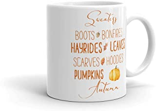 Autumn List Sweaters Boots Bonfires Hayrides Scarves Hoodies Leaves Cider Pumpkins