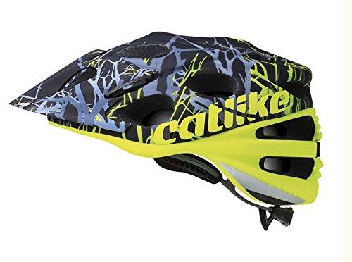 Catlike Leaf 2C Casco de Ciclismo, Unisex Adulto, Amarillo (Flúor) / Negro (Ramas), L/58-60