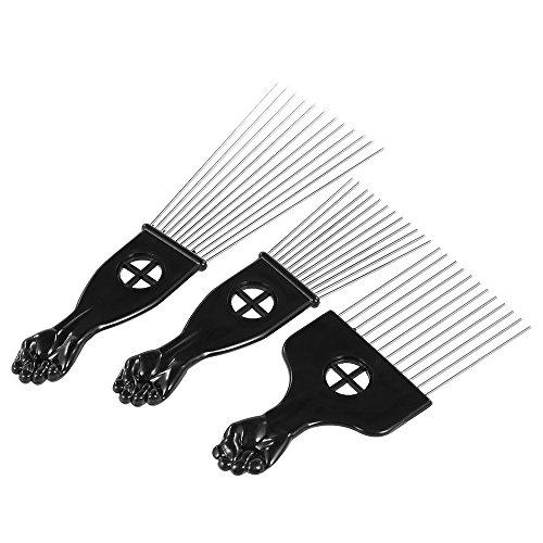 Anself 3St Metall Afro Kamm Pick Kamm Frisur Styling-Tool