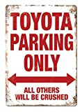 KODY HYDE Metall Poster - Toyota Parking Only - Vintage