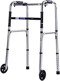 Walker For Seniors Rollator Foldable Rolling Rollator Walker With 2 Wheels,Walking Mobility Aid Frame Lightweight And Heig...