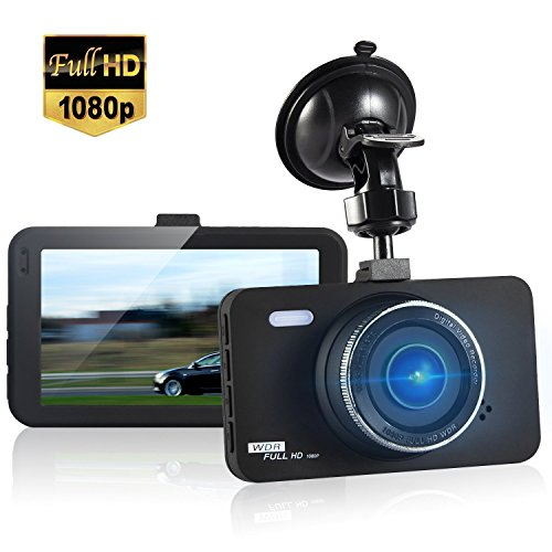 """Dashboard Camera FHD 1080P 150 Wide Angle 3"""" Screen Dash Cam Car DVR Vehicle Dashcam On Dash Video, G-Sensor ,WDR ,Loop Recording ,Night Vision with 8GB SD Card Black Friday Deals 2017"""