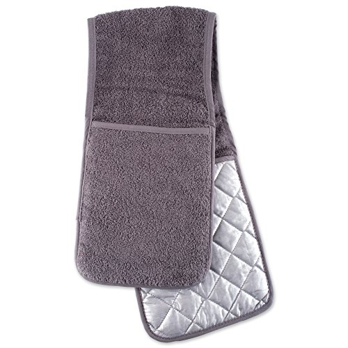 DII Basic Terry Collection, Double Mitt, Gray