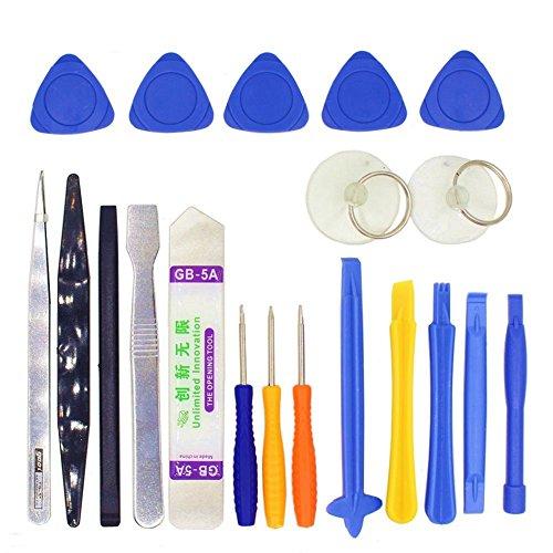 Kuinayouyi 20 en 1 telefono movil Kit de Herramientas de reparacion de Destornilladores de para el del telefono Celular Herramientas de Mano Conjunto
