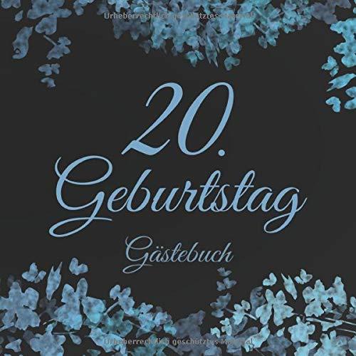 20. Geburtstag Gästebuch: 20 Jahre Geschenkidee - Vintage Album Buch - Zum Eintragen und Ausfüllen...