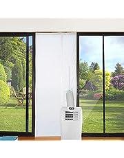 Jajadeal 210 x 90 cm universele afdichting voor raamdeur voor draagbare airconditioning, voor draagbare airconditioning en droger – automatische sluiting na het openen, eenvoudig te installeren.