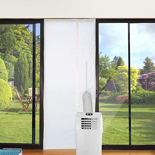 Jajadeal Türabdichtung für Mobile Klimageräte, Klimaanlagen, Wäschetrockner, Ablufttrockner, Hot Air Stop zum Anbringen an Balkontüren (90x210cm)