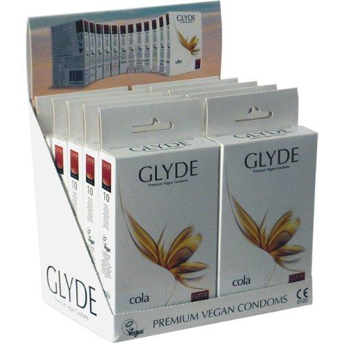 Glyde Ultra Cola 10 x 10 veganistische condooms, speciale aanbieding
