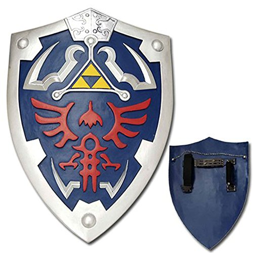Top Swords Full Size Link Hylian Zelda Shield with Grip & Handle