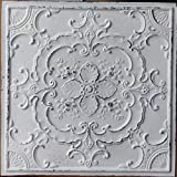PLASTDECOR Ceiling Tile Faux tin Painted Peeling Black White Cafe Decor Ceiling Panels PL19 Pack of 10pcs