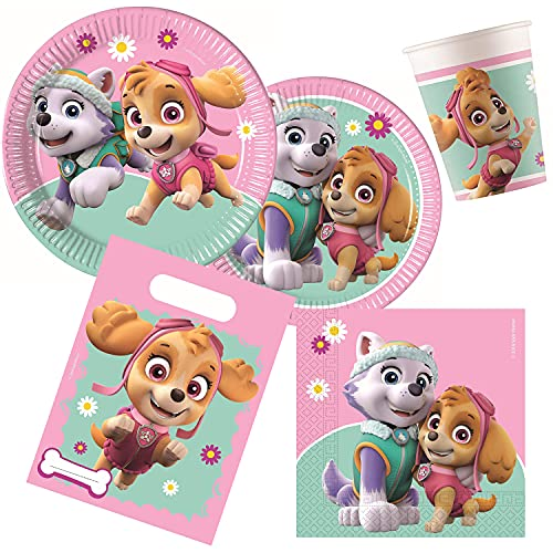 Procos 10133067-Set per Feste di Compleanno per Bambini, Motivo: Paw Patrol Skye And Everest, Multicolore, 10133067
