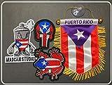 Puerto Rico Mini Boxing Glove design Boricua style