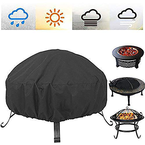 Outdoor Fire Pit Stove Dust Cover 210D Oxford Cloth Dustproof And Waterproof Barbecue Grill Sun Protection Rain UV 85X40cm,122X46cm,122x46cm