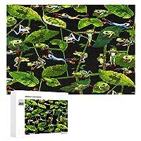 Kanvas Tropic Rainforest Frogs カエルの日常生活 300ピースのパズル木製パズル大人の贈り物子供の誕生日プレゼント