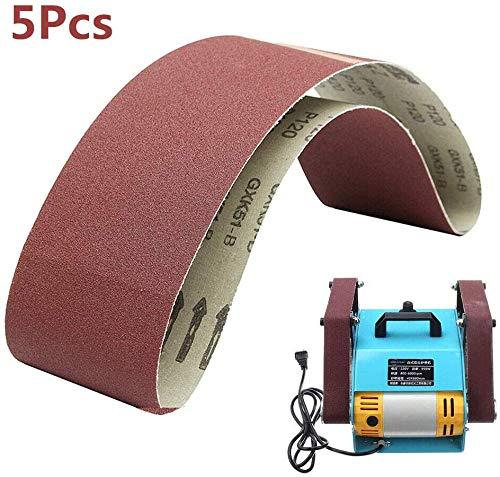SUPERTOOL Schleifbänder 100 mm x 915 mm – Aluminiumoxid-Power-Schleifmaschine für Holzbearbeitung, Bandschleifer, Metall-Polieren (5 Stück, 40 Körnungen)