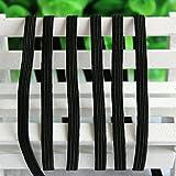 Generic Бесплатная доставка по ePacket 20 ярдов черный полиэстер 6 мм упругой ленты швейные аксессуары