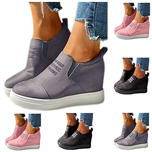 Dasongff Low-Cut Sneaker, Canvas Flache Schuhe, Frauen Beiläufige Schuhe, Damen Sommer Herbst Turnschuhe, Flache Schnürschuhe, Leichtgewichts Atmungsaktiv Walkingschuhe