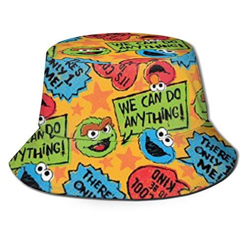LeoBird Elmo's World Monster Fisherman Caps Girl Sun Hat for Beach Black