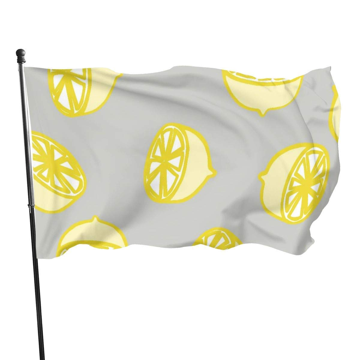 LZHANDA Jardín Banderas Decoración de Exterior, Garden Flag Lemon Grey Background Outdoor Yard Flag Wall Lawn Banner Home Flag Decoration 3 X 5: Amazon.es: Jardín